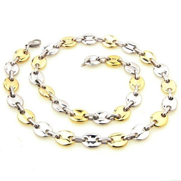 Cor do Metal: Aço e ouroComprimento: 55cm