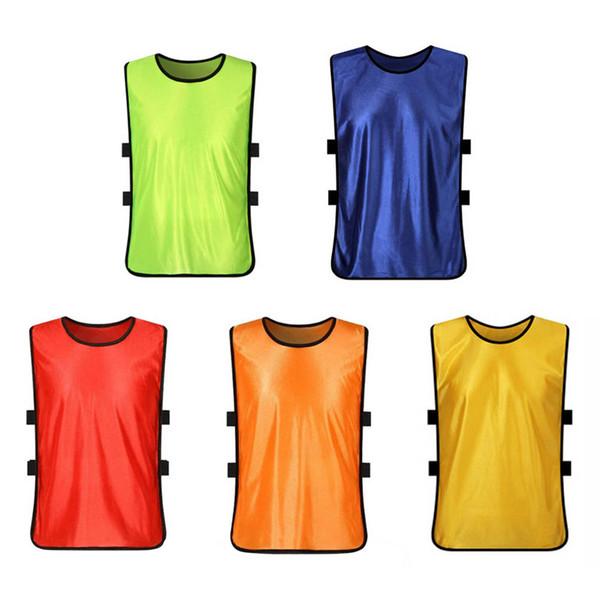 Sport di squadra Calcio Calcio Gilet da allenamento Bavaglini di colore fluorescente Pallacanestro Netball Cricket Calcio Top