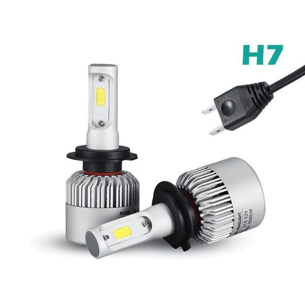 2019 S2 Auto Car H3 H7 H8 880 9005 LED Headlights 2X36W 6500K 8000LM 12V  COB Bulbs 2sides Diodes White Automobiles Replace Parts Lamp From  Miniputao,