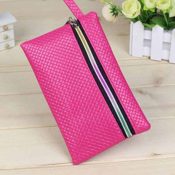 Fashion ladies wallet leather zipper bag hand holding key mobile phone storage bag cosmetic girl's coin purse Billettea