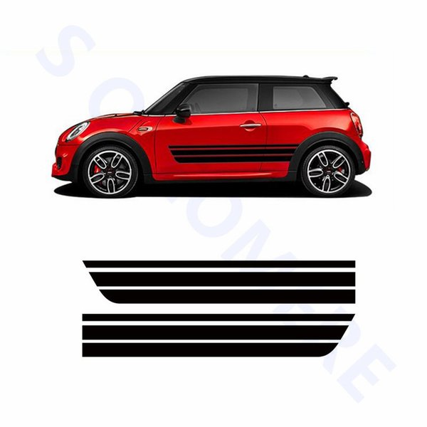 Car Door Side Skirt Strips Auto Body Decor Decal Sport Styling For BMW Mini Cooper CLUBMAN R55 R56 R60 R61 F55 F5