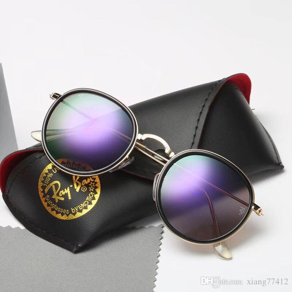 Luxury 5373573 Sunglasses For Men Fashion 020 design UV Protection Lens Square Full Frame Gold Color Plated Frame