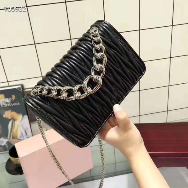 Designer de estilo novo bolsa de ombro bolsas de grife mulheres MM famosa marca crossbody sacos de vendas quentes da moda de alta qualidade saco do mensageiro preto