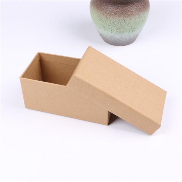 10 adet hediye kağıt kutusu Karton Hediyeler Mevcut Depolama Ekran Kutuları Kare Takı Bilezikler Küpeler Yüzükler Için