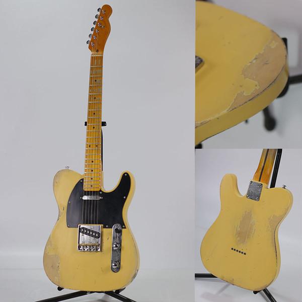Высокое качество ручной старый TL электрическая гитара, липы тело, шея клена, старые гитарные партии, свободная перевозка груза