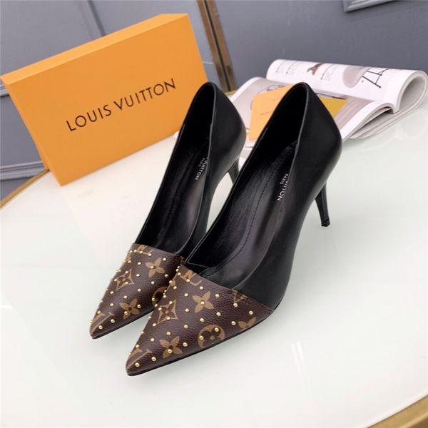 2018 marque luxe designer femmes chaussures à talons hauts designer talons hauts femmes chaussures habillées superstar pompes femmes avec boîte