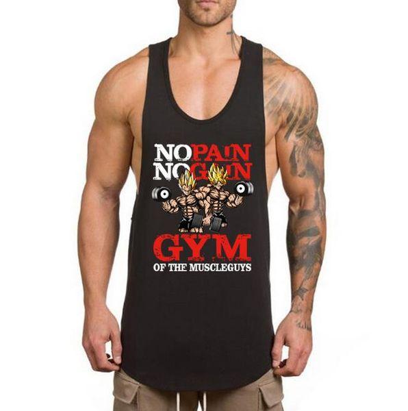 2019 Ginásios Colete Homens de Fitness Musculação Stringer Tops Moda Mens Crossfit Roupas Soltas Mangas Camisas