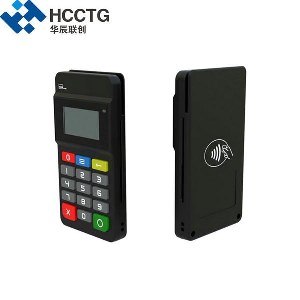 3-in-1 MSR Okuyucu + IC çip ile Bluetooth MPOS Mobil Ödeme terminali / Ekran ile NFC kart okuyucu / Keypad-HTY711