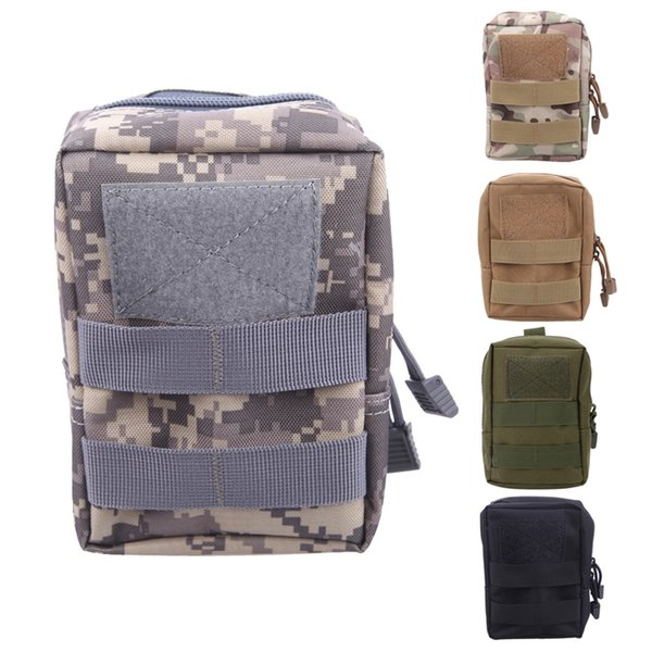 Molle Tactical Pouch Military Waist Bag Outdoor Camping Hunting Waist Pack Waterproof Phone Bag with Side-release buckle #304133