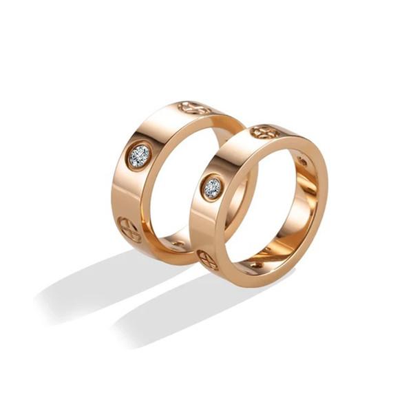 Moda venta caliente 316L acero titanio clavos diseñador anillos anillos de los amantes para mujeres y hombres joyería hombre mujer anillos KR711