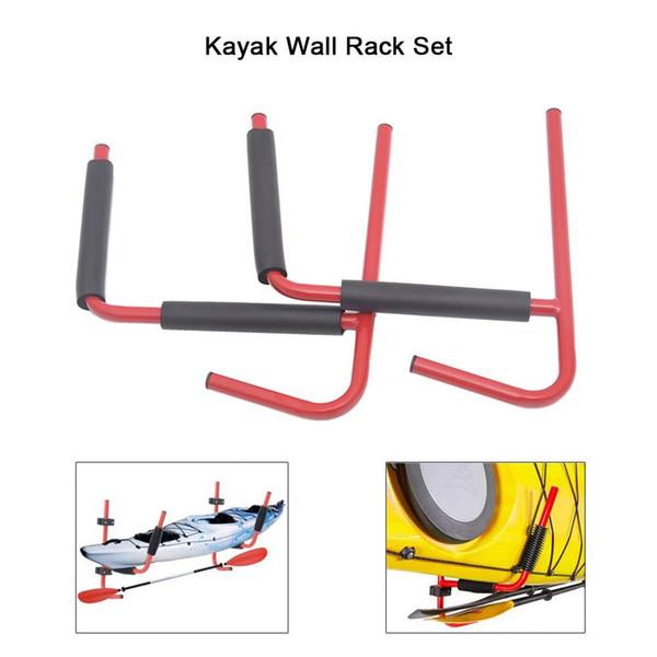 Kayak Wall Rack Ladder Wall Mount Storage Hanger Rack for Water Sports Paddling Kayak Accessories Red