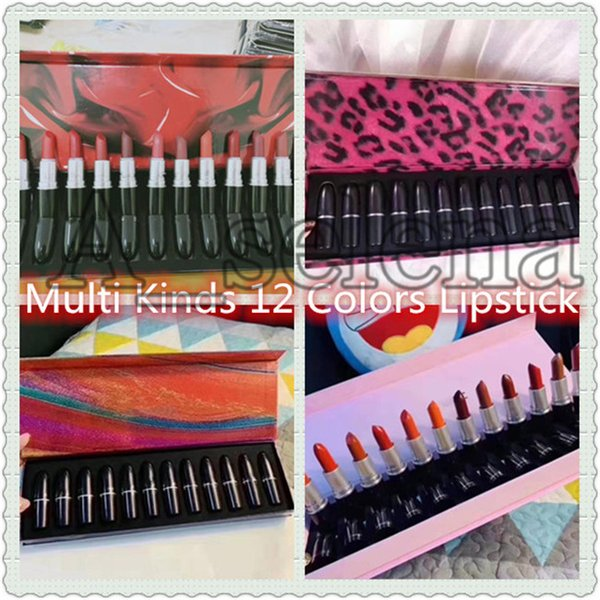 2020 multi m brand lip cosmetics lipstick 12pcs/set the bullet matte lipstick boom bloom with nice quality ing