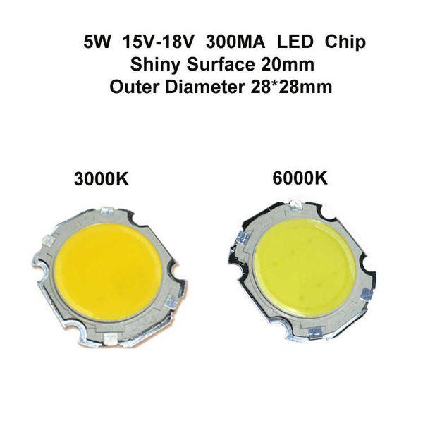20MM de superfície 5W LED Chip brilhante