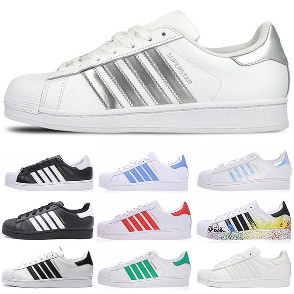 Originals superstars casual shoes for men women black white gold green red super star fashion mens flat sneakers size 36-44