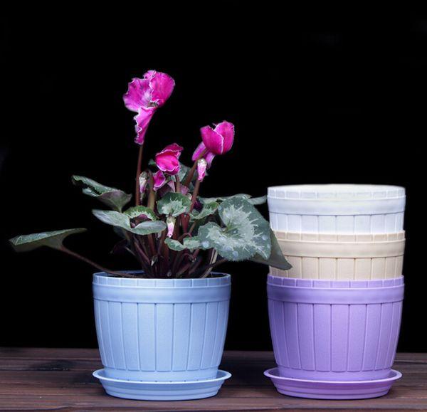 Free shipping Wholesales Wholesale imitation wood barrel wood grain resin flower pot environmentally friendly resin barrel flower pot green