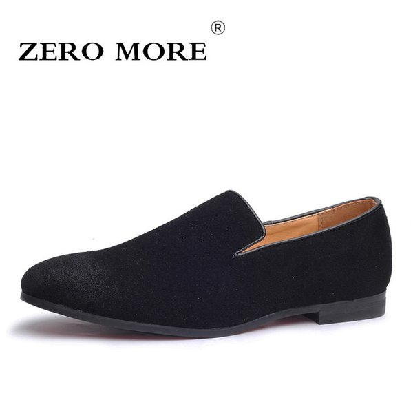 Zero More Slip On Shoes Men Loafers Black 2019 Moccasins Solid Soft Mens Shoes Casual Large Sizes Fashion Breathable Blue Suede MX190713