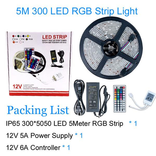 5050 RGB 5M / 5A 300LEDs IP65