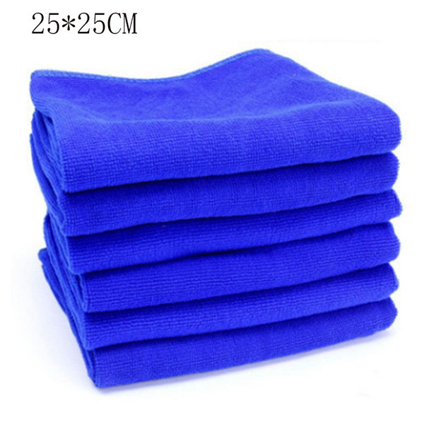 5pcs 25*25cm Microfibre Cleaning Auto Soft Cloth Washing Cloth Towel Duster Blue Soft Absorbent Wash For Car Accessories