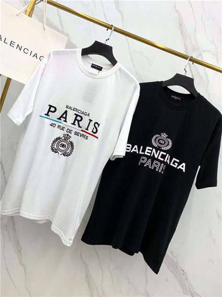 19ss Paris Ohr des Weizens Liebhaber Baumwolle T-Shirts 40 RUE DE SEVRES Kurzarm Sommer T-Shirt atmungsaktiv Shirt Streetwear Outdoor T-Shirt