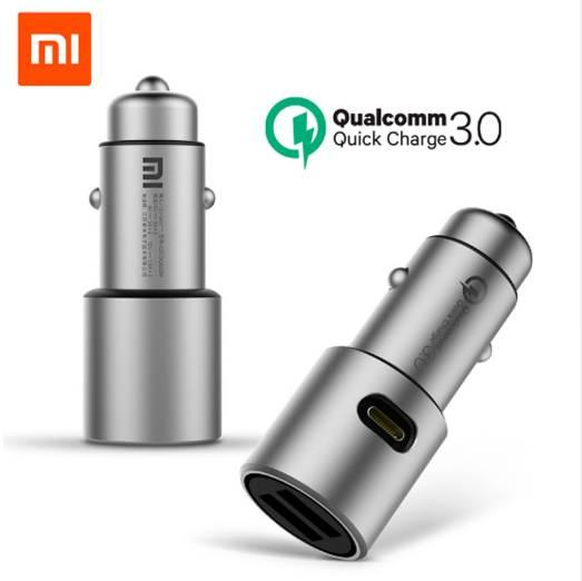 Original Xiaomi Car Charger Quick Charge 3.0 Xiomi 5V/3A Dual USB 9V/2A 12V/1.5A for Android iOS for iPhone X Samsung Xiaomi