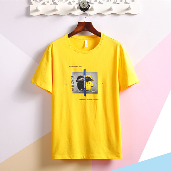 Дизайнерские футболки SY12064mens Новые мужские короткие рукава с красными буквами на груди дизайнерские рубашки поло мужчин и многие другие товары в магазине