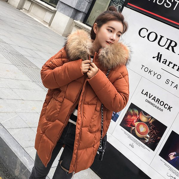 ee3ff9e9a29 2018 New Plus Size Winter Women Jacket Coats Big Fur Hooded Warm Winter  Parka Jackets Long Thick Down Cotton Jacket Women