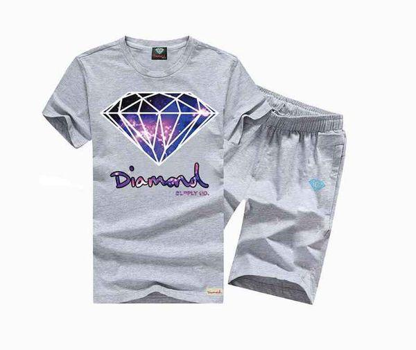 s-5xl free shipping NEW Mens print top hip hop Casual Geometric o-neck t-shirt +pants print clothing,
