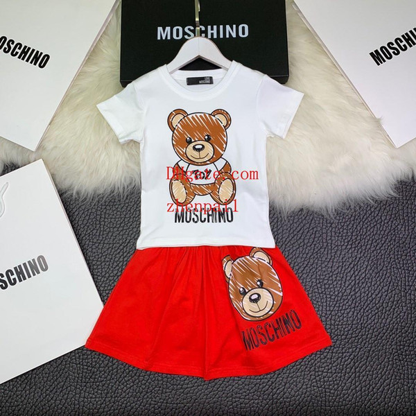 2019 Summer girl children's clothing cartoon pictures baby clothes T-shirt shorts cool fashion male baby pants boy two-piece suit v-t3