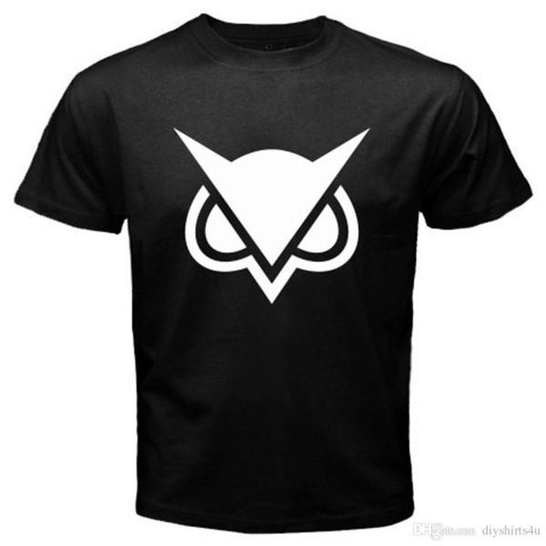New Vanoss Gaming Owl Logo Famous Vlogger Men's Black T-Shirt Size S-3XL T-Shirt Men Vintage White Short Sleeve Custom Plus Size Men