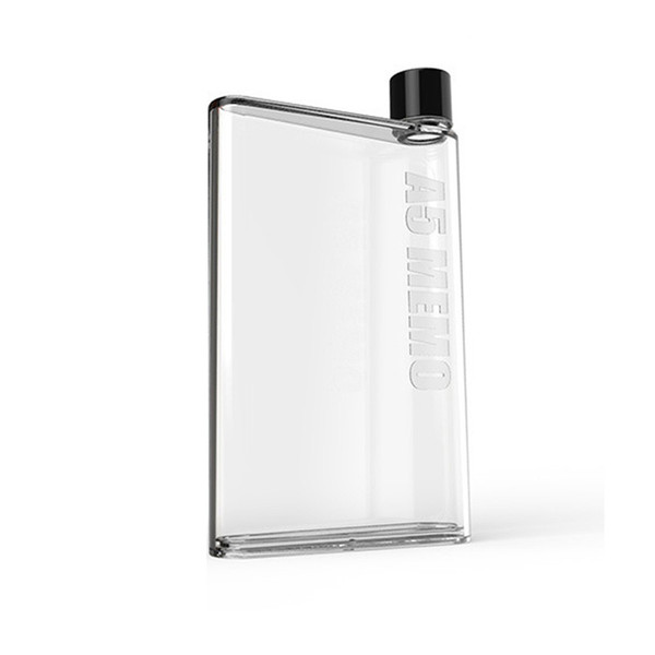 Water Bottle Clear Book Portable Paper Pad Water Bottle Flat Drinks Cup Kettle kettle Portable for Travel Yoga Run