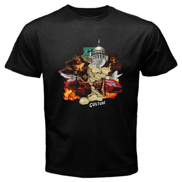 Maglietta nera nuova di Bigos * Culture Rap Hip Hop Music Divertente spedizione gratuita Maglietta unisex casual