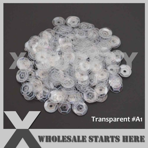 (Transparent Colors) Round Cup Loose Sequin Paillettes for Party Evening Dress,Costume,Nail Art,Wholesale Order Accept