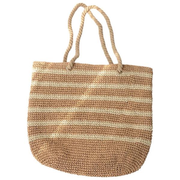 Capacity Net Shopping Bags Cotton Rope Shoulder Bags Weave Knitting Handbag Hollow Out Summer Beach Cheap Straw