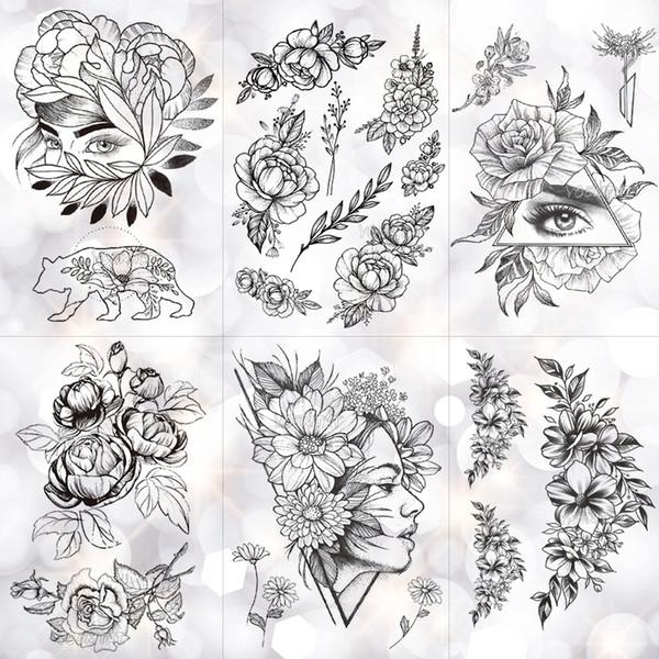 Desenhos Para Tatuar Geometrica Flor Rosa Olho Deixa A Prova D