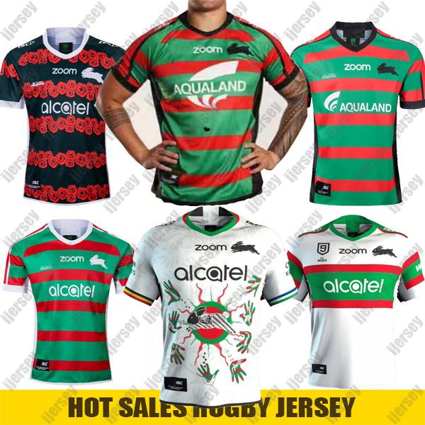 best selling 2020 New South Sydney Rabbitohs Home ANZAC Indigenous rugby Jersey 2020 NRL Rugby League jerseys Shorts Australia maillot de rugby S-5XL