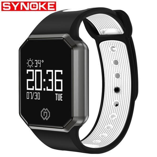 SYNOKE NEW Ladies Ladies Heart Rate Pressão Arterial Relógios de Pulso Bluetooth Inteligente Relógio Esportivo À Prova D 'Água Multi-função Inteligente