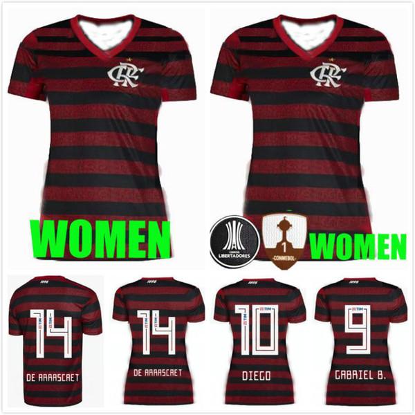 b8e3ec8fc1a12 2019 2020 Flamengo camiseta de fútbol femenino Gabriel B. de Arrascaeta  DIEGO Camiseta de futbol