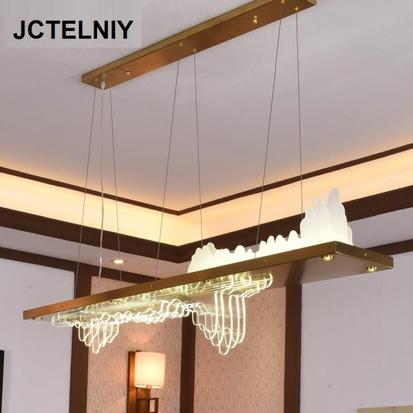 Lampe Moderne Nouveau 18 Dh532738711Dhgate Rectangulaire834 com Table Or Led De Du Bar Art Acrylique Lustre Créatif Acheter 4LAR5j3