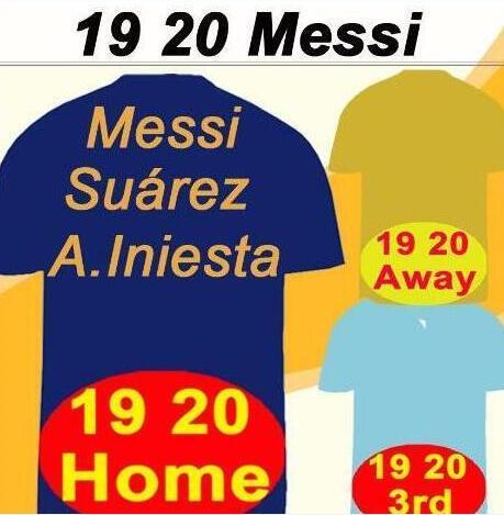 2019 2020 MESSI Griezmann casa Fuera tercero para hombre de Tailandia de fútbol de los jerseys 18 SUAREZ PIQUE Coutinho DEMBELE las camisas del fútbol Rakitic F. DE JONG Sho