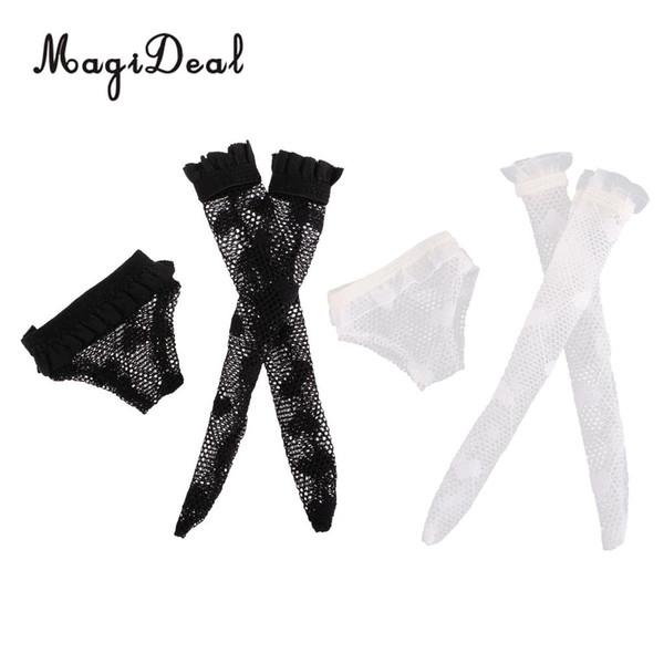 Calze autoreggenti per bambole Fashion Doll Set per Blythe Doll Dress Up Accessory Girl Gifts Black White