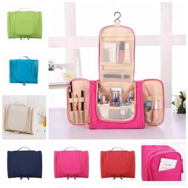 Hanging Travel Storage Bag Solid Color Cosmetic Bags Makeup bag Waterproof Toiletry Holder Wash Bag Outdoor portable storage bags CLS218