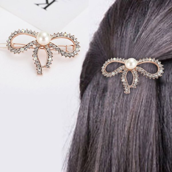 2019 3 Pcs/Set Korean Style Girls Barrettes Crystal Rhinestone Hair Clips Women Butterfly Love Shaped Hairpins Clamp Accessories