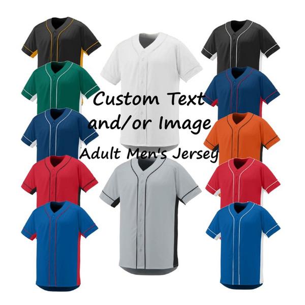 Benutzerdefinierte Stickerei Baseball-Shirt Männer Frauen Jugend Jedes Logo Jeder Brief auf Beaseball Trikots Pls Senden Sie uns Logo Picture Zeigt, wie es aussieht