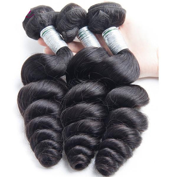9A Brezilyalı gevşek dalga Bakire Saç 3 Paketler gevşek dalga İnsan Saç Uzantıları Perulu Malezya Hint Bakire Saç Gevşek Dalga kabarık Kıvırmak