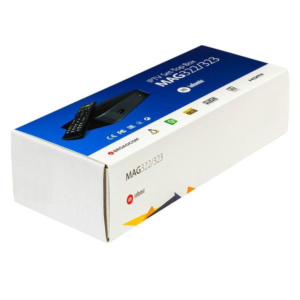 MAG322 2019 Dernières Linux 3.3 OS Set Top Box MAG 322 avec WiFi intégré WLAN HEVC H.265 TV Box Smart TV Media Player
