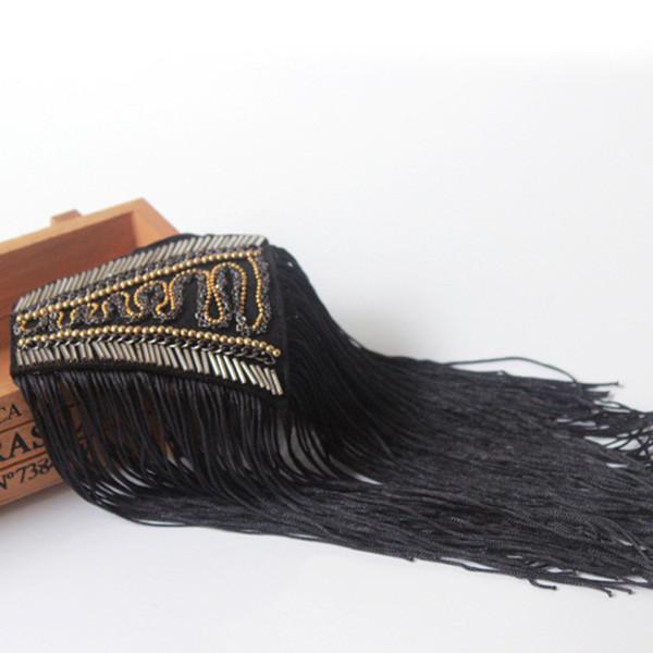 Epaulettes Stage costume brooch fringed shoulder dress epaulets accessories jewellery brooch accessories jewellery brooch