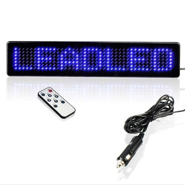 SıCAK Yeni Mavi 12 V Araba LED Programlanabilir Mesaj Burcu Uzaktan LED ekran Ile Kaydırma Ekran Kurulu