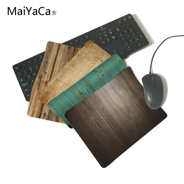 MaiYaCa Wooden Floor Computer Mouse Pad Mousepads Radiation Non-Skid Rubber Pad Not Overlock Mouse