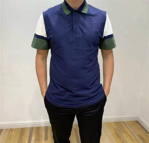 Polos para hombre Diseñador de cocodrilo de lujo Contraste Color Solapa Cuello Manga corta Hombre Tops Verano Transpirable Camisetas para hombre