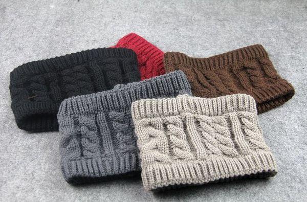 8 colors Winter Warmer Ear Knitted Headband Turban For Women Lady Crochet Bow Stretch Elastic Hairband Headwrap Hair Accessories